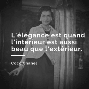 Citation coco chanel 5