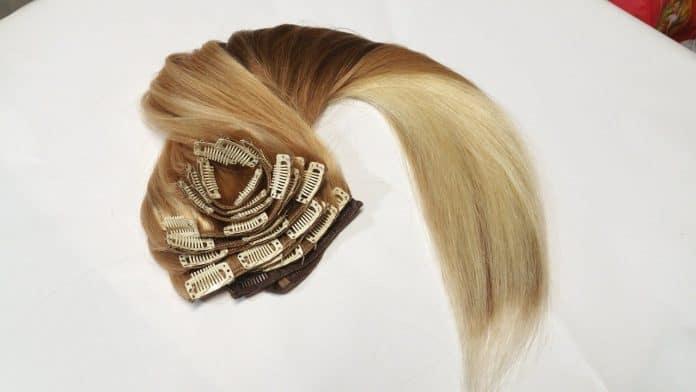 Des extensions cheveux à clip