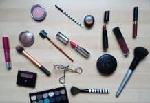 produits de maquillage pur routine de soin