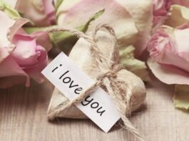 coeur avec inscription I love you